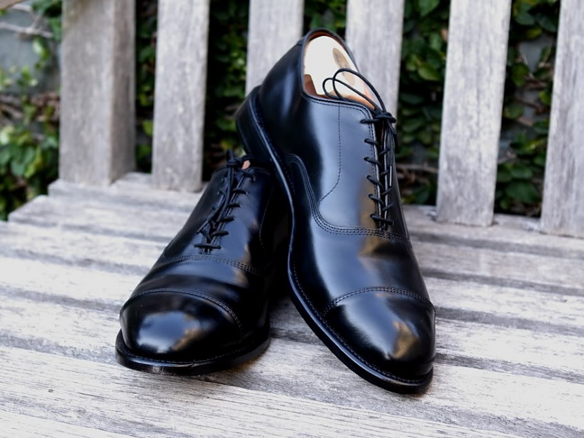 dd630df2e The sturdy calf upper and Goodyear-welted thick leather sole with open  channel stitching guarantee many years of faithful service and easy  re-soling (Allen ...