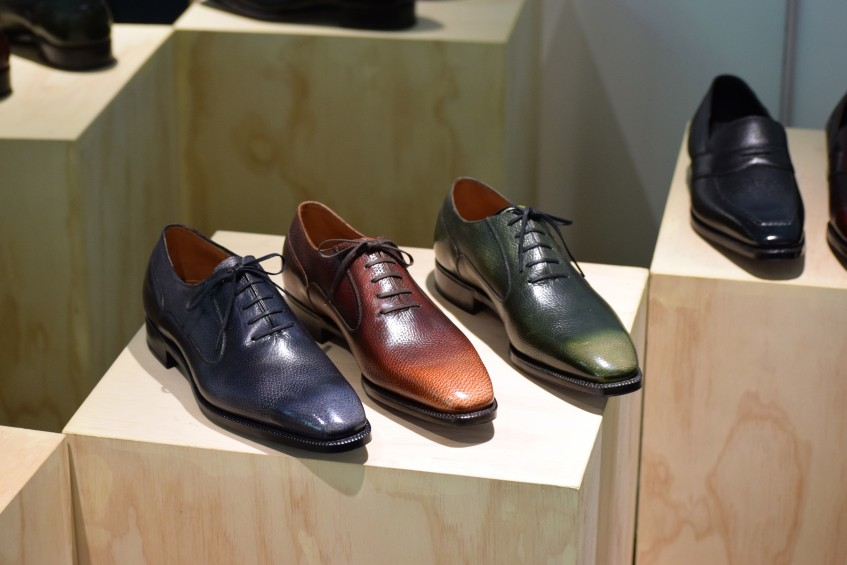 3D patinated oxfords from the Savile Row Meets Rock 'n' Roll Collection