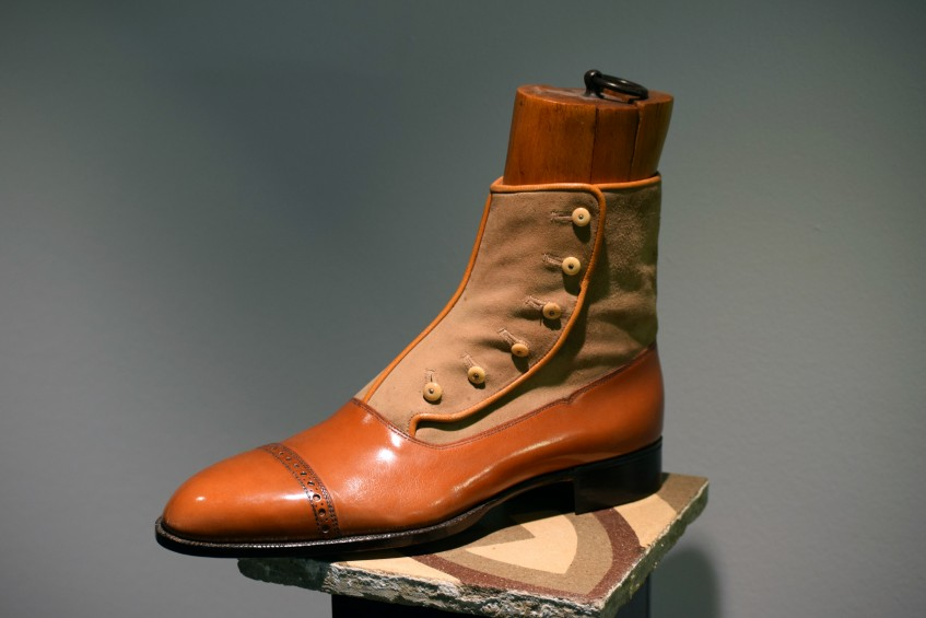 Meticulously crafted bespoke button boot