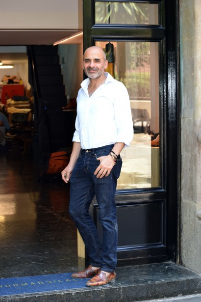 Norman Vilalta outside his bespoke workshop and showroom