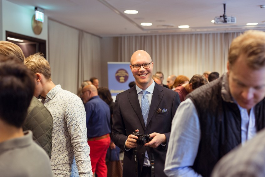 Mr. Shoegazing himself: Jesper Ingevaldsson