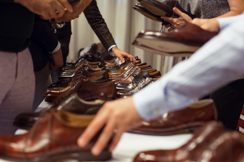 Visitors examine the offerings of popular Hungarian maker Vass