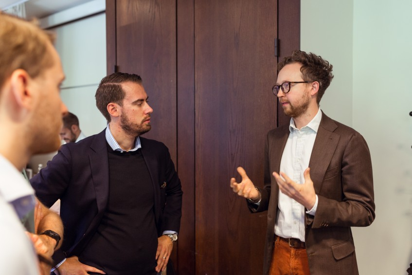 Daniel Wegan of Gaziano & Girling (to the right) was present and also took part in the panel discussions