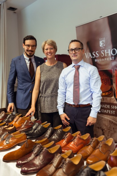Aleks Jovanovic of aleksjj.com with Eva Vass and Rezső Kuti of Vass Shoes, Budapest