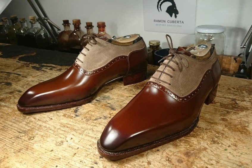 Two-tone oxford stunners made for one of Ramon's lucky customers