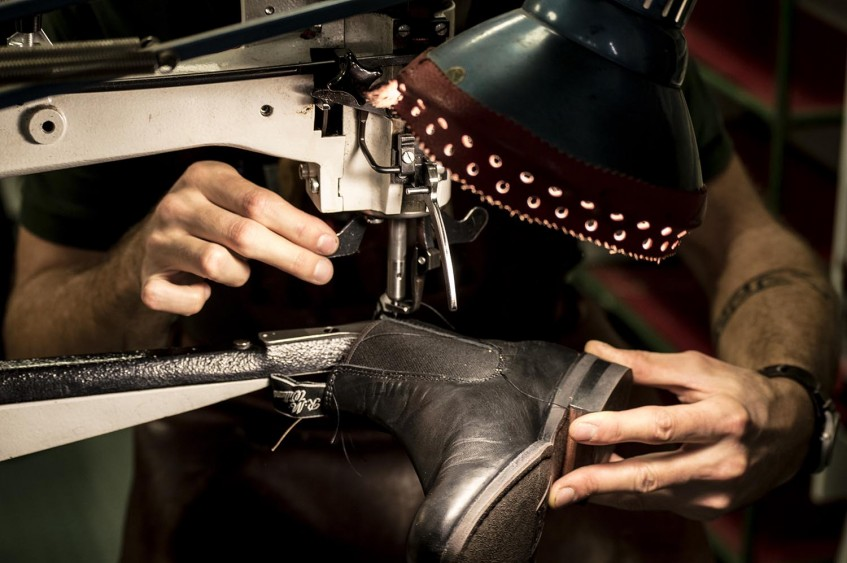 RM Williams boots getting serviced with new elastic side gussets