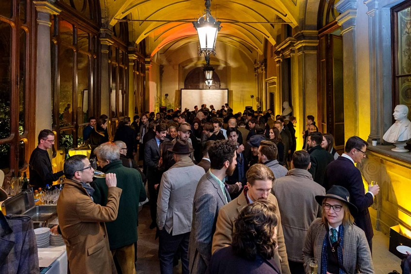 Many showed up at Palazzo Budini Gattai for the Permanent Style Retailers Symposium and Plaza Uomo x Stenströms party