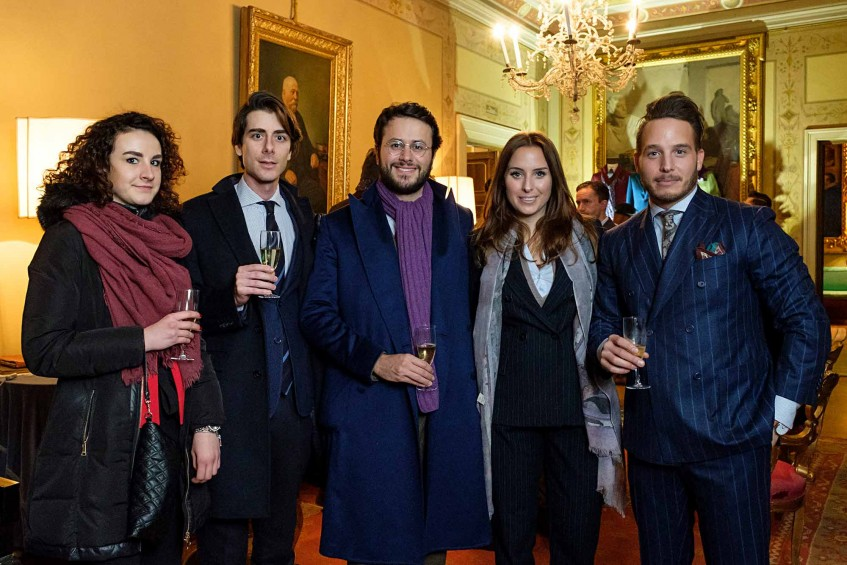 Indre Lastaite, Andrea Viganò and Fabio Attanasio of The Bespoke Dudes, Rosette and Ludwig Hirsch of Plaza Magazines