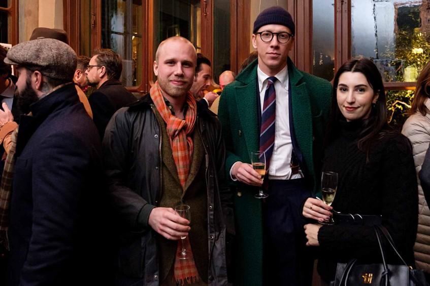 Robin Pettersson of RP Tailor, Andreas Larsson of Berg & Berg, Giulietta Falvo of Oscar Hunt