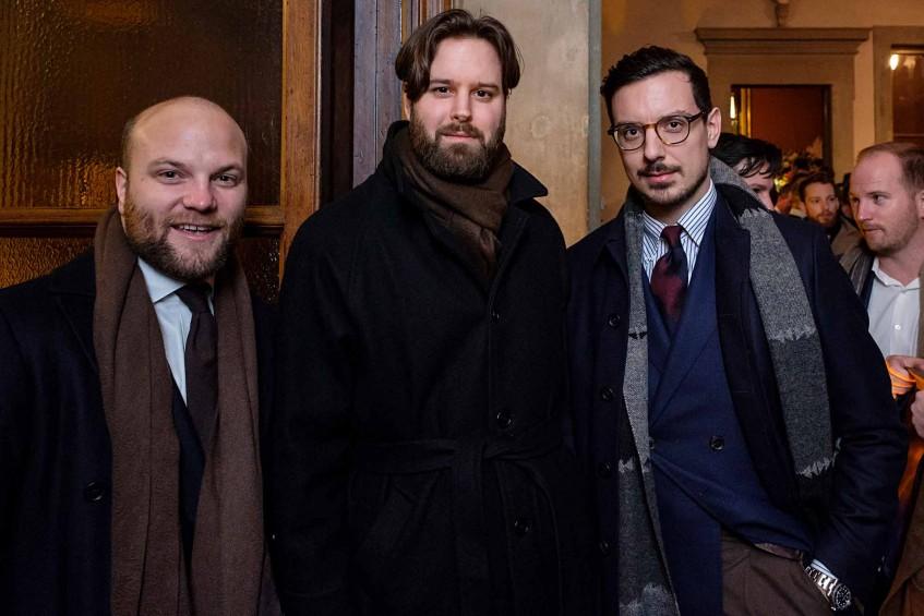 Sebastian Scharnke of Cavour, Oliver Dannefalk of Skoaktiebolaget, Aleks Jovanovic of blog AleksJJ