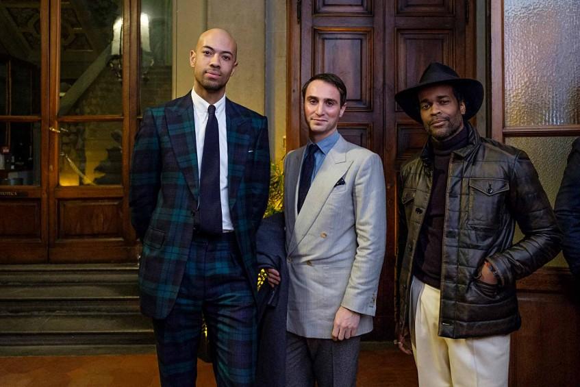 Jonathan Alexander Edwards of Milan Style, Dominic Sebag-Montefiore of Edward Sexton, Karl-Edwin Guerre of Guerreisms