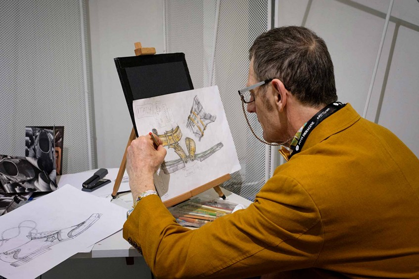 Oliver Sweeney of Twisk at the drawing board