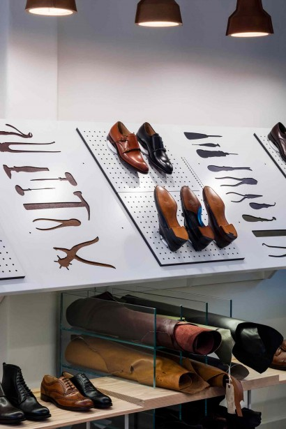 'The store is a contemporary interpretation of our craftsmanship and heritage, championing our skills and values through innovative displays and beautiful detailing. In Henrietta Street we have a statement store, not only for Cheaney, but for footwear retailing.' - William Church, Joint Managing Director, Joseph Cheaney & Sons