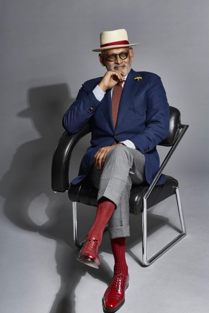 Ignatious Joseph describes his taste in shoes as 'English, with a bit of Italian touch. The English would not wear something like this, but probably the Italian would, and the French.'
