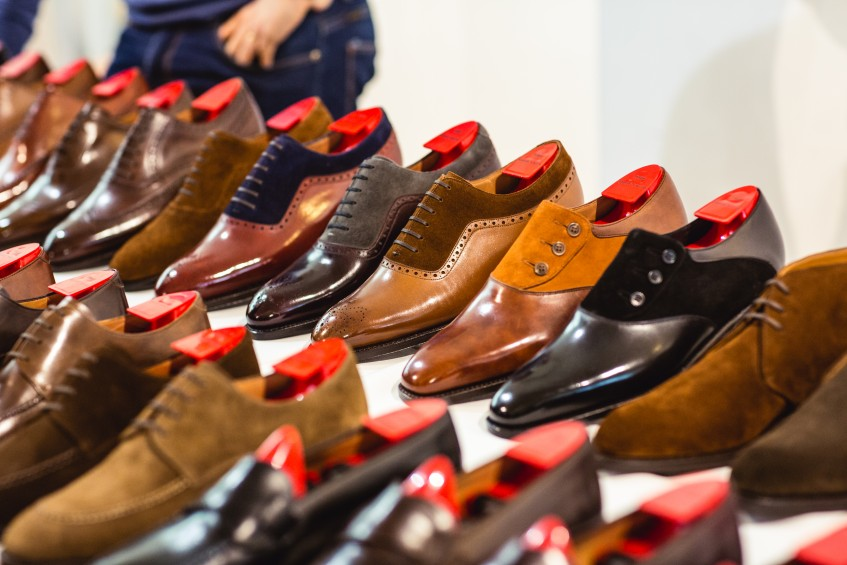 J.FitzPatrick Footwear shoes on display at London Super Trunk Show.