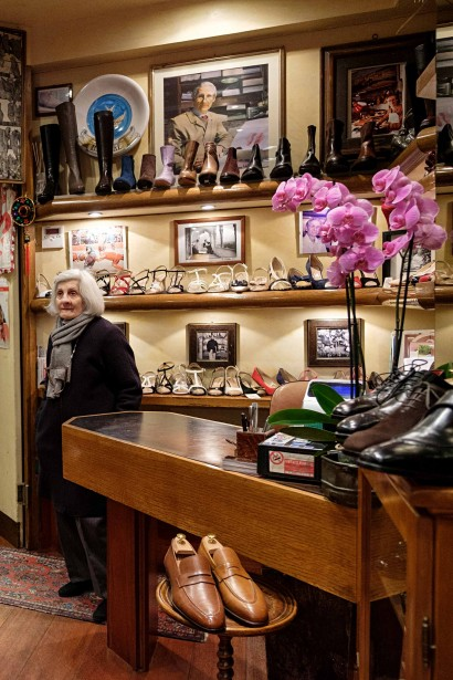 The wife of late founder Calogero Mannina still works at the shop. Calogero's portrait is hanging on the wall.