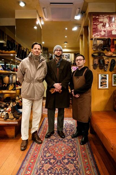 Antonio Mannina, Hannes Rebas and Giovanni Lorenzo.