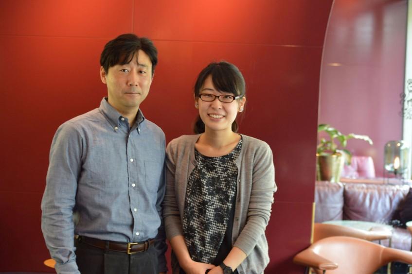 Mr. Hiroyuki Yanagimachi and Ms. Konomi Egawa in Stockholm, September 2016.