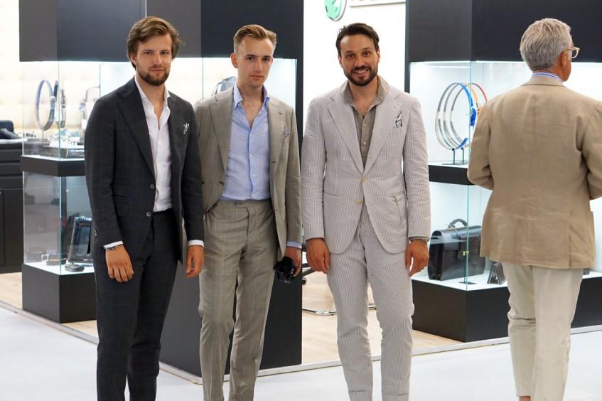 The Zaremba bespoke tailoring team