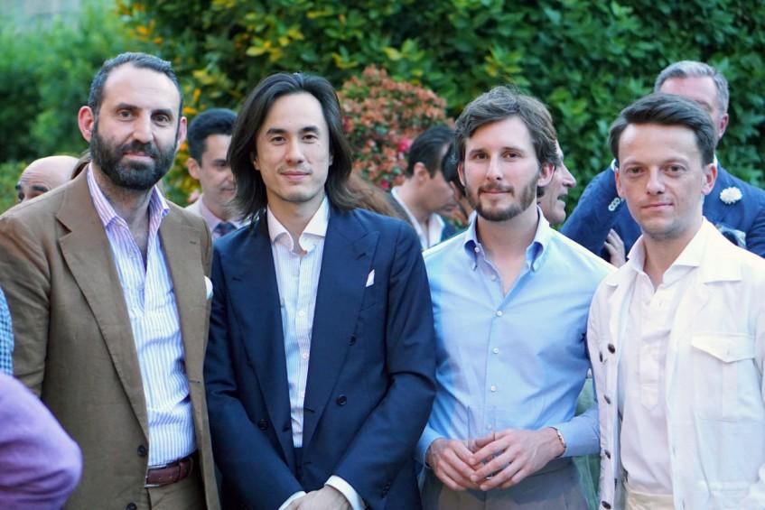 Gregory Lellouche, Allan Baudoin, Wil Whiting, Mikolaj Pawelczak at the Plaza Uomo party