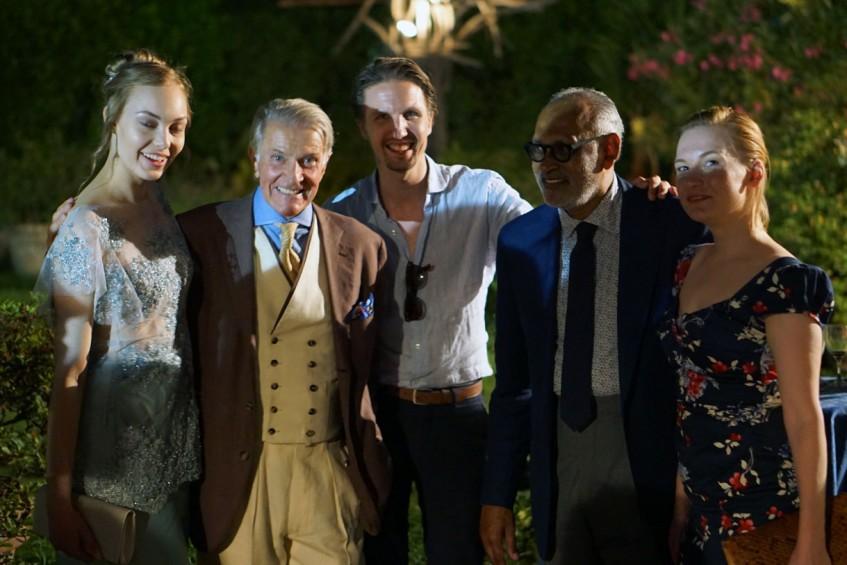 ?, Henrik Hjerl, Tuukka Simonen, Ignatious Joseph, ? at the Plaza Uomo party