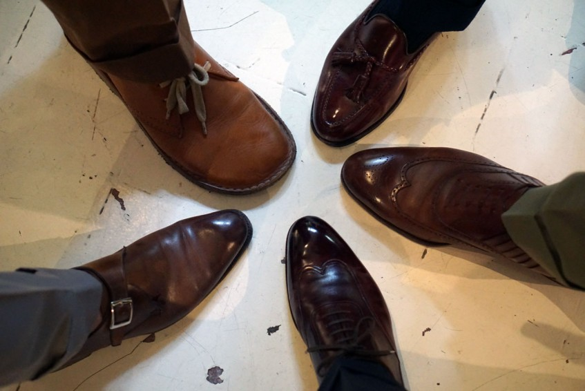 The obligatory shoe circle