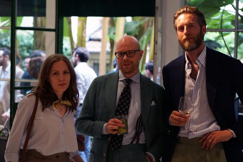 Anu Rautalin, Jussi Häkkinen, Patrik Löf at the Pommella Napoli party