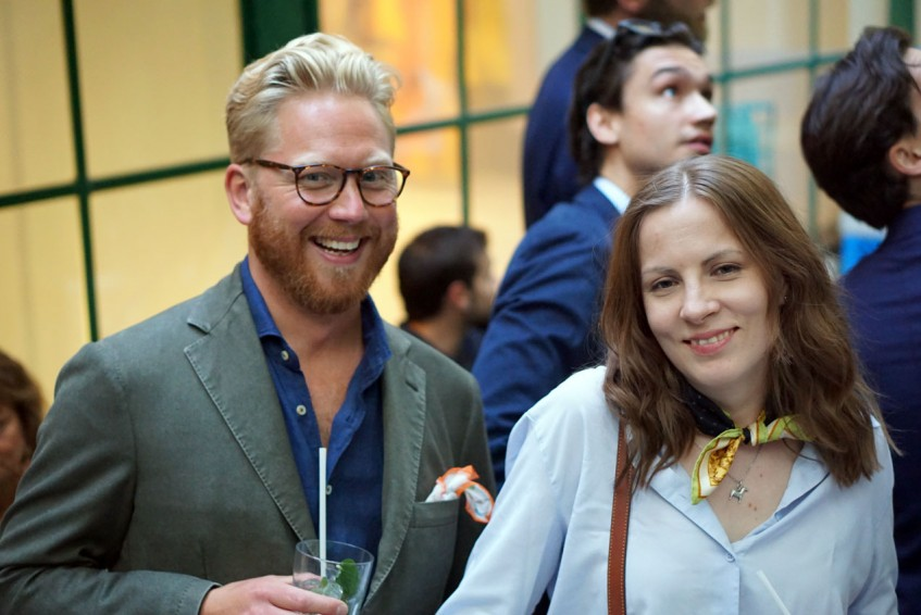 Andreas Klow and Anu Rautalin at the Pommella Napoli party